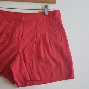 Theory Red Shorts